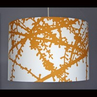 Large Ochre Modern Botanical Lampshade Many Sizes by StudioJOTA