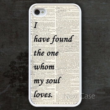 iPhone 4 Case, iphone 4s case -- I have found the one whom my soul loves iPhone 4 Case, iphone case