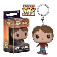 Funko Pocket Pop: Back to the Future  - Marty on Hoverboard Keychain
