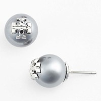 Women's Tory Burch 'Evie' Faux Pearl Stud Earrings
