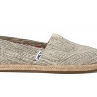 TOMS Black Space-Dyed Women's Classics Slip-on Shoes,