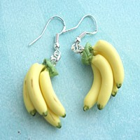 Banana Bunch Dangle Earrings