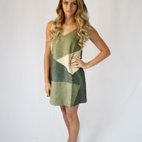 Away We Go Dress - Olive