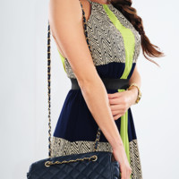 Wait For You Purse: Navy