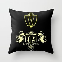 Wayne Enterprises Throw Pillow by Sierra Christy Art