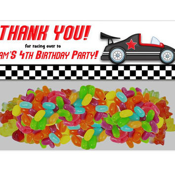 Race Car Bag Toppers - Cars Birthday Bag Toppers - Race Cars Party Favors - Personalized Construction Party Tags chalk boy