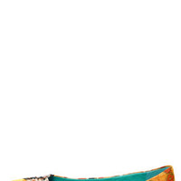 Blowfish Deja Saffron Tribal Ikat Print Pointed Flats