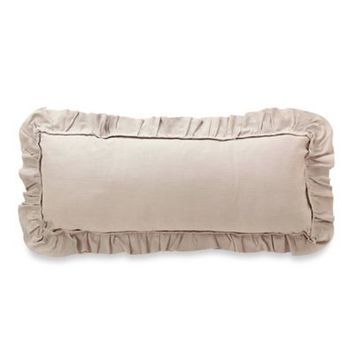Foundry Ruffle Trim Oblong Throw Pillow