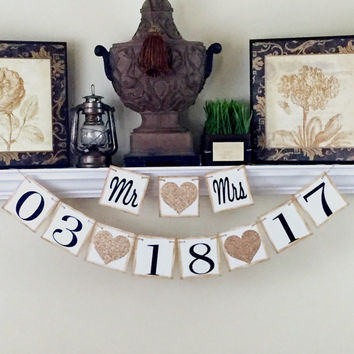 Save the Date Banner, Mr and Mrs, Engagement Party, Wedding Save the Date, Engagement Photo Prop, Engagement Photo Id