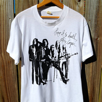 RESERVED Authentic Vintage 70s Alice Cooper Love it to Death Concert T-shirt Black and White Graphic Tee