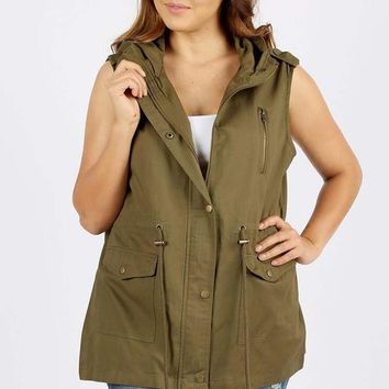 Farrah Sleeveless Vest | Colors | Plus