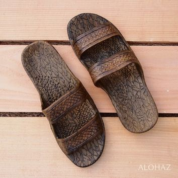 medium brown classic jandals® -  pali hawaii sandals
