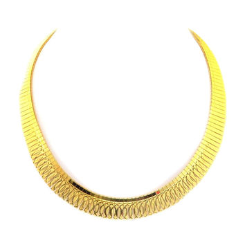 Gold over Sterling Vermeil Necklace by Milor of Italy