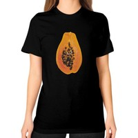 Papaya Piercing Tee (on woman)