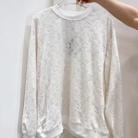 Louis Vuitton LV Casual Simple Women Long Sleeve Top