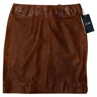Leather Classic Mini Skirt 51% off retail