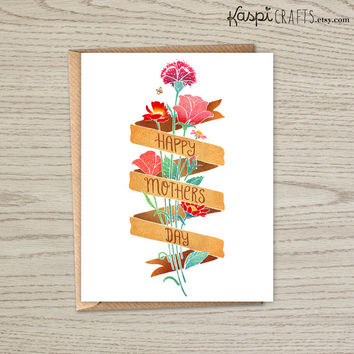 INSTANT DOWNLOAD, Happy mothers day, printable greeting card, mothers day card