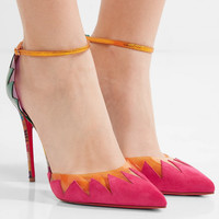 Christian Louboutin - Chapito Ho 100 PVC-trimmed suede and leather pumps