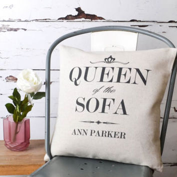 'Queen Of The Sofa' Cushion Cover