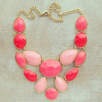Pree Brulee - Pink Sugared Cake Necklace