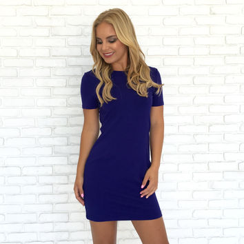 Queen Of Hearts Royal Blue Dress