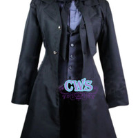 Anime Black Butler Ciel Black Suit Cosplay Costume Uniform