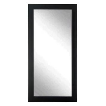 BrandtWorks Designers Choice Leaning Floor Mirror - Matte Black - Mirrors at Hayneedle