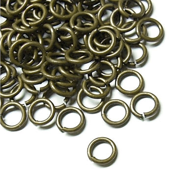 100pcs 4mm Open Jump Ring Antique Brass O Rings
