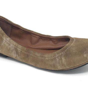 Lucky Brand Emmie Breen Suede Leather Flats