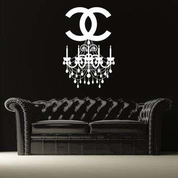 Shop chandelier wall art on wanelo wall decal vinyl sticker decals art decor design chandelier lust aloadofball Gallery