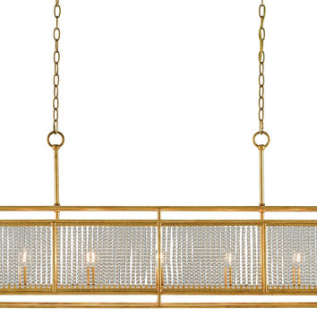 Currey Company Adelle Rectangular Chandelier