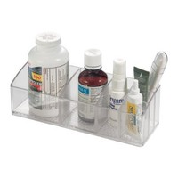 InterDesign Med+ Bathroom Medicine Cabinet Organizer, for Vitamins, Medical Supplies, Makeup - Clear
