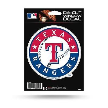 Texas Rangers Auto Decal Die Cut Car Sticker Medium VDCM