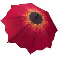 Red Daisy Full Length Umbrella