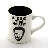 House MD Hugh Laurie Mug by LennyMud on Etsy