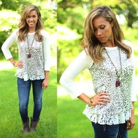 Leopard & Lace Top