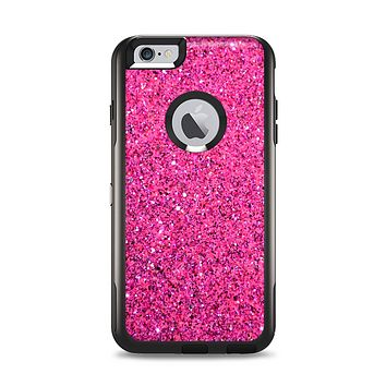 The Pink Sparkly Glitter Ultra Metallic Apple iPhone 6 Plus Otterbox Commuter Case Skin Set