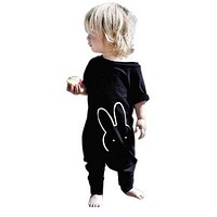 2017 Fashion baby clothes black cool baby rompers newborn clothes baby boy girl clothing set toddler suit short sleeve outfits