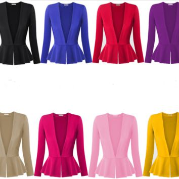 Womens Trendy Ruffle Stylish Jacket