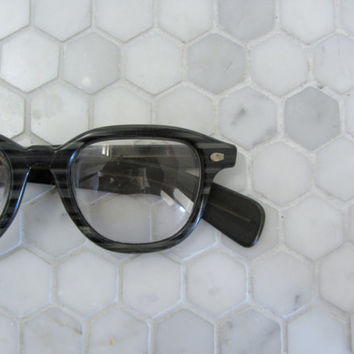 SALE 1950s 1960s eyeglasses . mens horn rim glasses. unisex eyewear