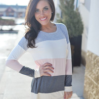 Color Block Tunic- Grey