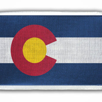 Patch - Colorado State Flag - Heat Seal / Iron on Patch for jackets, shirts, tote bags, hats, beanies, cases and more!!