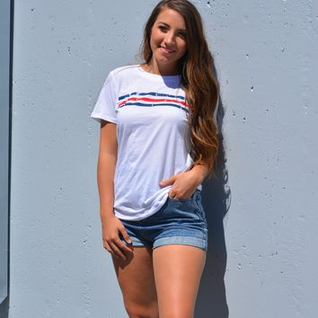 The Stars And Stripes Perfect Crew Tee