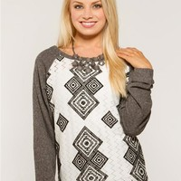 Flocked Lace Baseball Fleece