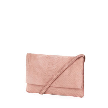 SUEDE EMBOSSED CROSS BODY BAG