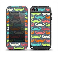 The Colorful Scratched Mustache Pattern Skin for the iPod Touch 5th Generation frē LifeProof Case
