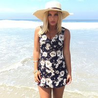 Stay True Floral Skort Romper