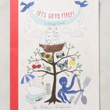 Let's Go To Italy Coloring Book by Rebecca Rebouche Red One Size House & Home