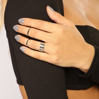 Decked Out Ring Set - Silver