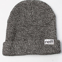 The Fold Heather Beanie in Black & Grey
